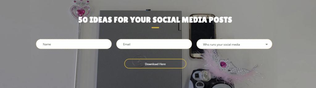 50 social media ideas - content queen