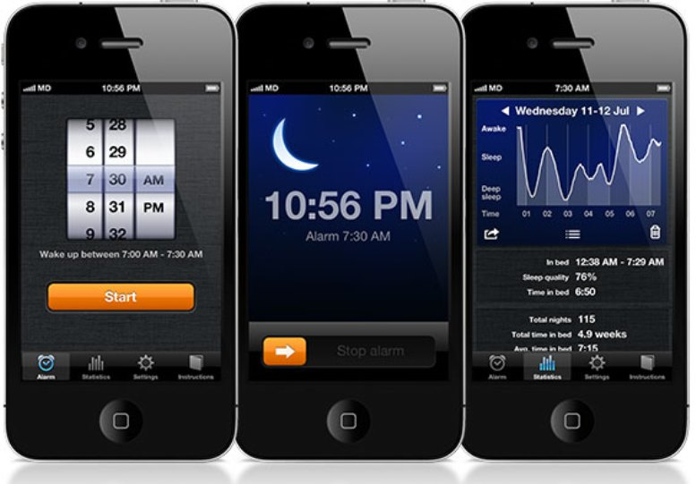 Sleep Cycle app screenshot - content queen